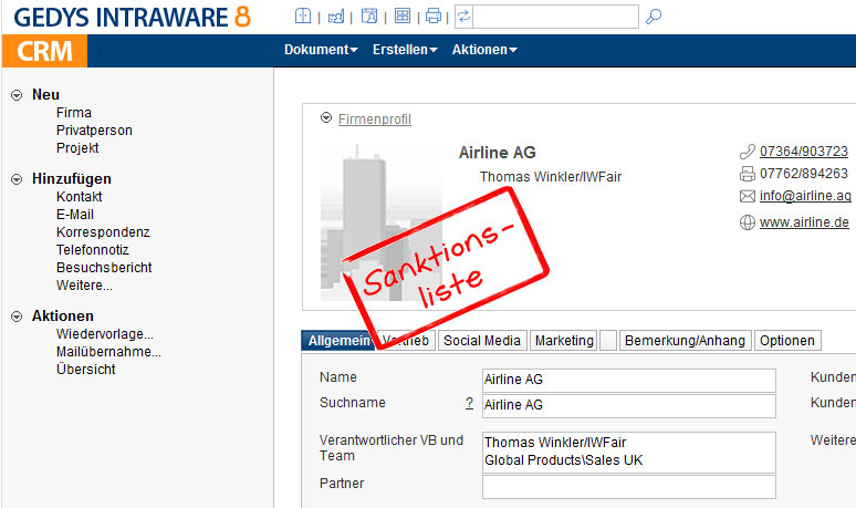 Sanktionsliste